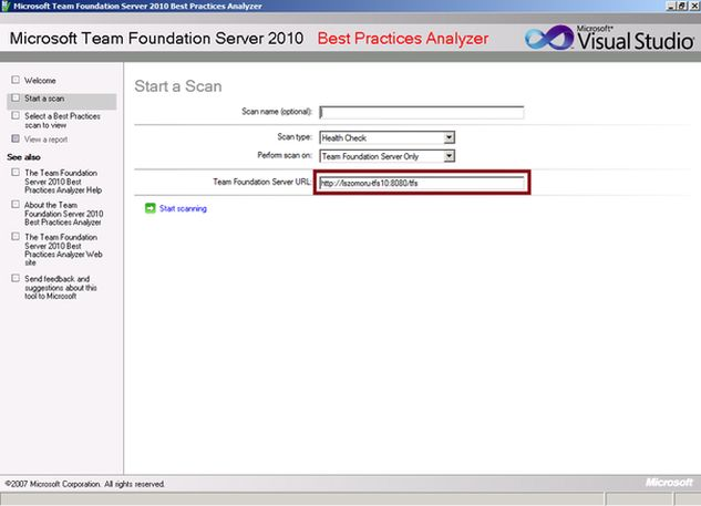 TFS Add-in: TFS Best Practices Analyzer