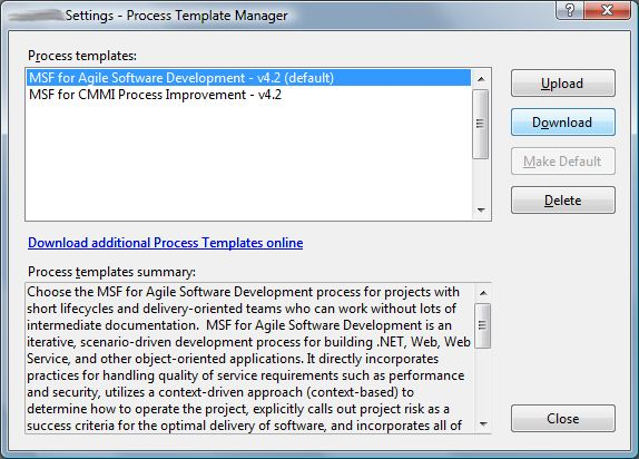 TFS Add in: Process Templated Editor