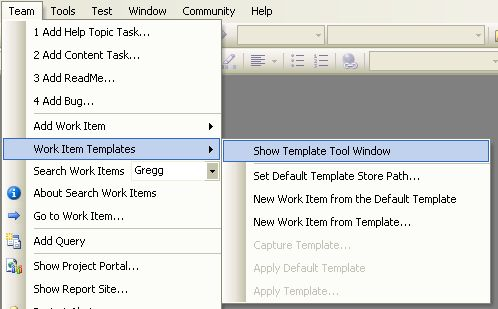 TFS Add in: Work Item Templates